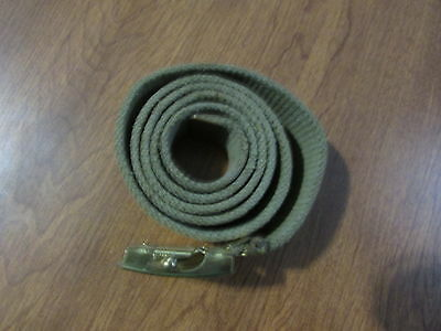 Boy Scouts Web Belt And Brass Buckle Childs Small