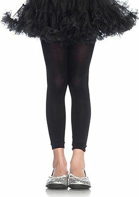Childrens footless tights LARGE BLACK