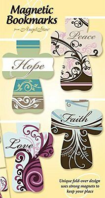 Angelstar Magnetic Cross, Includes Four Separately Designed Bookmarks with
