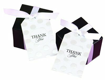 Hortense B. Hewitt Wedding Accessories Favor Cards, 25-Pack, Pearl Dotted