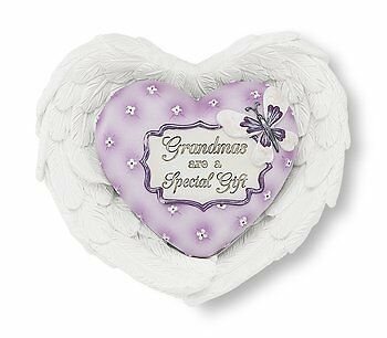 Heart Expressions by Pavilion Heart and Wing Gift Set, Grandma Sentiment, 3