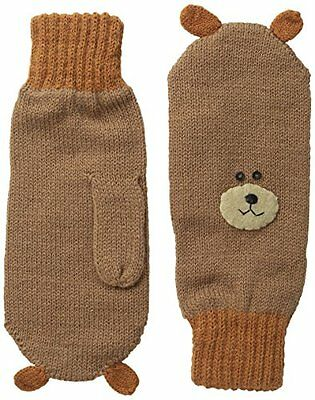 Kidorable Little Boys' Bear Mittens, Brown, Large