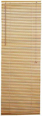 Achim Home Furnishings Morning Star 1-Inch Mini Blinds, 27 by 64-Inch, Wood