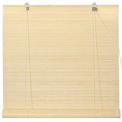 Oriental Furniture Bamboo Roll Up Window Blinds, Natural, 48-Inch Wide