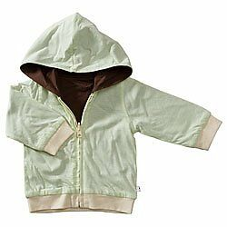 Baby Soy All-Natural Year-Round Reversible Hoodie - Tea/choc