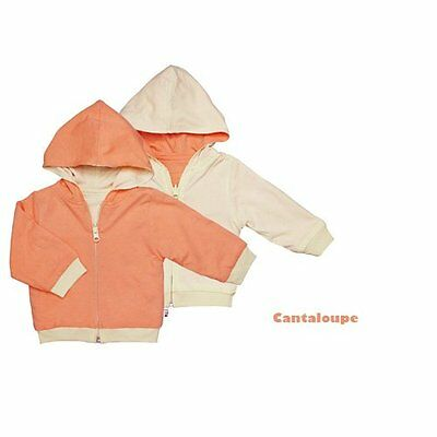 Babysoy Reversible Hoodie (Baby) - Canteloupe-0-6 Months