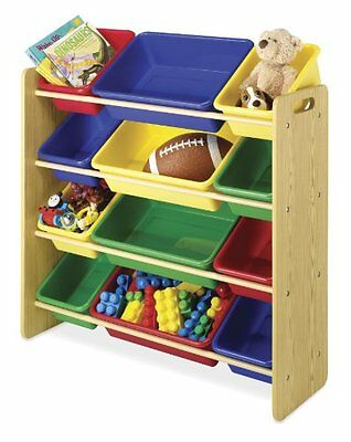Whitmor 6436-2554-DS 12 Bin Toy Organizer, Primary