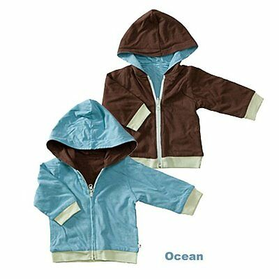 Baby Soy All-Natural Year-Round Reversible Hoodie - Blossom/chocolate (6-12