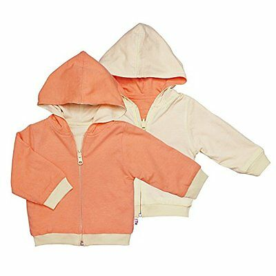 Babysoy Reversible Hoodie (Baby) - Canteloupe-6-12 Months