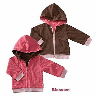 Baby Soy Year Round Reversible Hoodie, Blossom/Chocolate - 0-6M