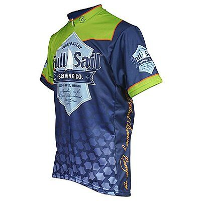 Pace Sportswear Full Sail Jersey, Medium, Navy/Green