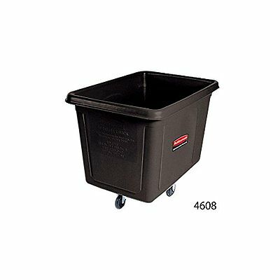 Rubbermaid Commercial Bulk Box Cart, 8 Cu. Ft., Black, FG460