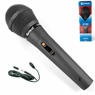 Sansai DM-H300 Dynamic Microphone Professional Mic Uni-directional Vocal Black