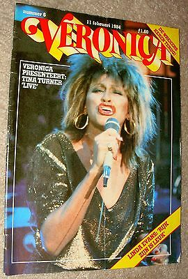 Tina Turner Foreign Magazine on Cover February 11, 1984 Excellent condition!