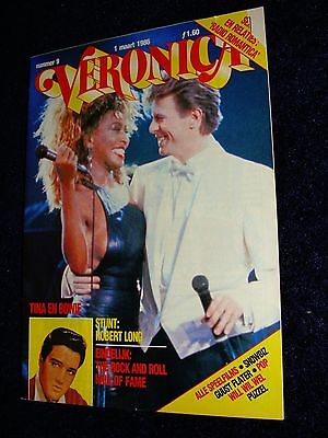 Tina Turner / David Bowie Foreign Magazine on Cover March 1,1986 Excellent shape