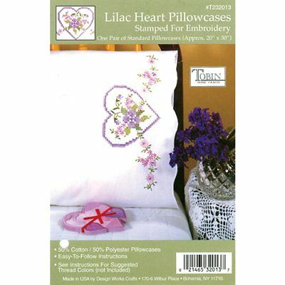 Tobin Stamped Pillowcase Pair Stamped Cross Stitch Kit for E