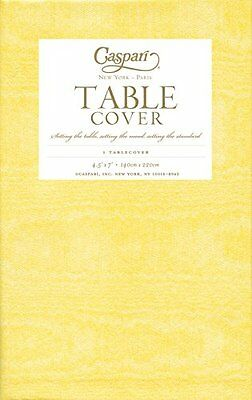 Caspari Moire Printed Paper Table Cover, 54 by 84-Inch, Yell