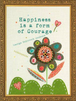Dimensions Needlecrafts Handmade Embroidery, Happiness Is