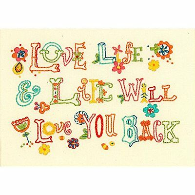 Dimensions Love Life Embroidery Kit, 7 by 5-Inch