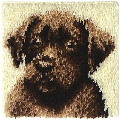 "Wonderart Latch-Hook Kit, Chocolate Dog, 12"" X 12"""