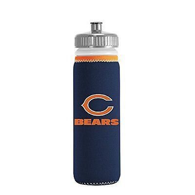 NFL Chicago Bears Van Metro Squeezable LDPE Water Bottle, Bl