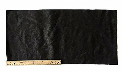 A-1 Upholstery Leather Piece Cowhide Black Light Weight 12 x