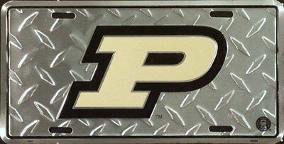 Purdue Diamond License Plate Tin Sign 6 x 12in