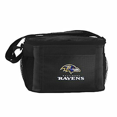 NFL Baltimore Ravens Insulated Lunch Cooler Bag with Zipper
