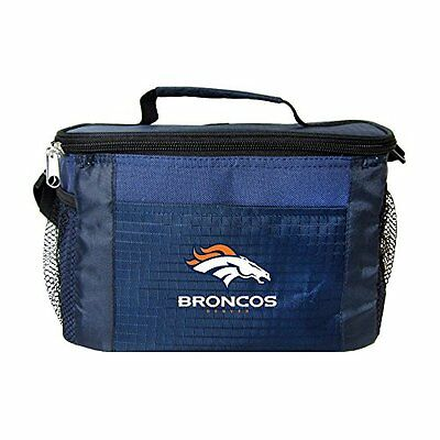 NFL Denver Broncos Insulated Lunch Cooler Bag with Zipper Cl