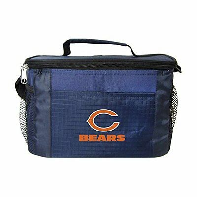NFL Chicago Bears Insulated Lunch Cooler Bag with Zipper Clo