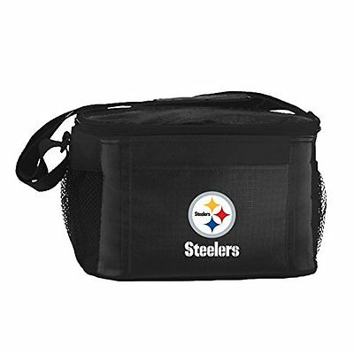 NFL Pittsburgh Steelers Insulated Lunch Cooler Bag with Zipp