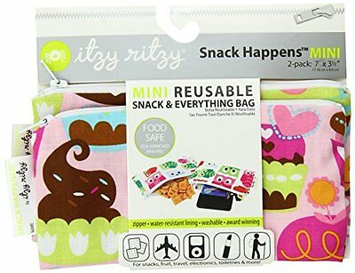 Itzy Ritzy Snack Happens Mini Reusable Snack & Everything Ba