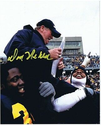 DON NEHLEN SIGNED AUTOGRAPHED 8x10 - West Virginia Mountaineers - Final Game