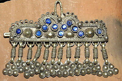 Old Banjara Hair Jewelry Belly Dance Dangles Barrette STUNNING
