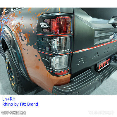 Fitt Rhino Rear Tail Light Lamps Cover Trim For Ford Ranger Px1 Px2 Mk2 2015 16