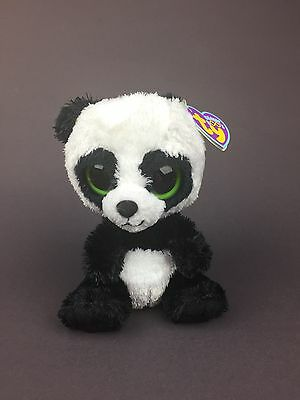 "Ty Beanie Boo Bamboo Panda Bear Plush 6"" Stuffed Animal SKU:#228"