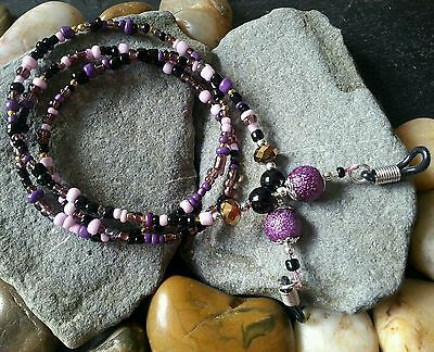 Glasses Chain Purple Black Gold - Spectacle Cord - Holder - neck strap Retainer