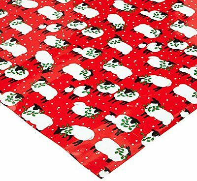 Caspari Festive Flock Continuous Gift Wrapping Paper Roll, 8