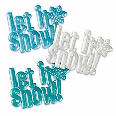 Oasis Supply Let it Snow Pearlized Cupcake/Cake Decorating Scripts, 4 1/2-I