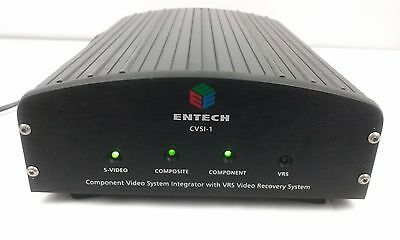 ENTECH CVSI-1 Component Video System Integrator VRS Video Recovery System RARE