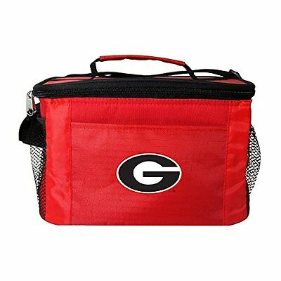 NCAA Georgia Bulldogs Insulated Lunch Cooler Bag with Zipper