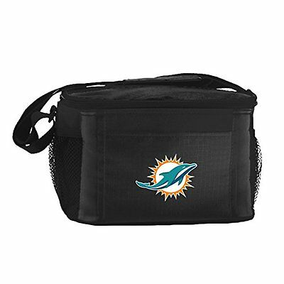 NFL Miami Dolphins Insulated Lunch Cooler Bag with Zipper Cl