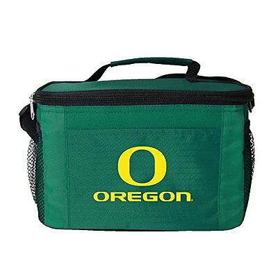 NCAA Oregon Ducks Insulated Lunch Cooler Bag with Zipper Clo