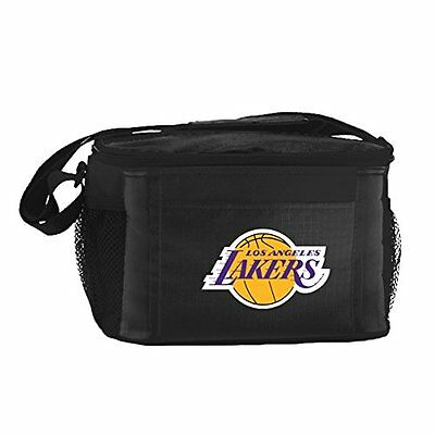 NBA Los Angeles Lakers Insulated Lunch Cooler Bag with Zippe