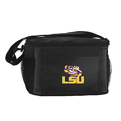 NCAA LSU Tigers Insulated Lunch Cooler Bag with Zipper Closu
