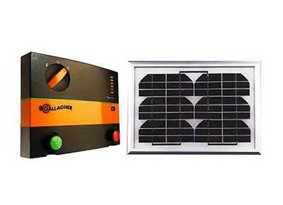 GALLAGHER B80 10km SOLAR Powered Electric Fence Energiser & 5 Watt Solar Panel