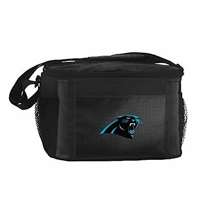 NFL Carolina Panthers Insulated Lunch Cooler Bag with Zipper