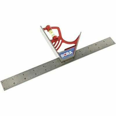 BORA 531120 12-Inch Magnetic Combination Square with Etched