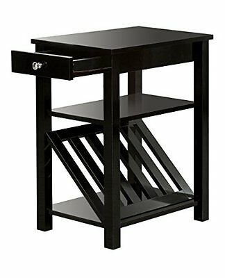 Furniture of America Erhart II 1-Drawer Side Table with Maga