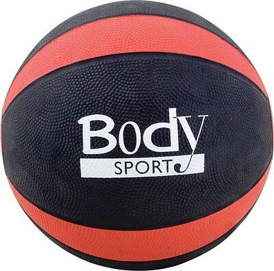 Body Sport Medicine Balls with Exercise Guide, 10-Pound, Red